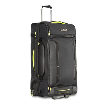 High Sierra - AT8 81cm Drop Bottom Wheeled Duffle with Backpack Straps - Black/Z