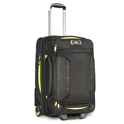 High Sierra - AT8 54cm Drop Bottom Wheeled Duffle with Backpack Straps - Black/Z