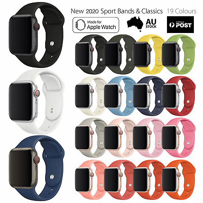 Sports band F Apple Watch Series 5 4 3 2 1 Silicone strap 38 40 42 44 mm iWatch