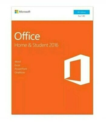 Microsoft Office Home and Student 2016 Windows English 1 PC Key Card / Sealed