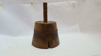 "Huge Antique 3lb 14oz Stonemasons Mallet Tool Nearly 7"" Across 12594"