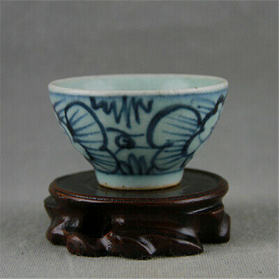 Chinese ancient antique hand make Wine Glass Porcelain Decoration a74