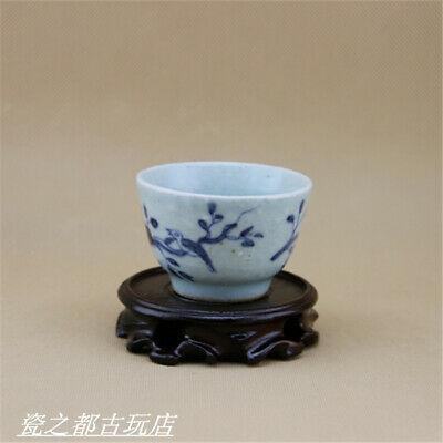 Chinese ancient antique hand make Wine Glass Porcelain Decoration a71