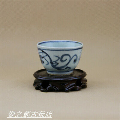 Chinese ancient antique hand make Wine Glass Porcelain Decoration a88