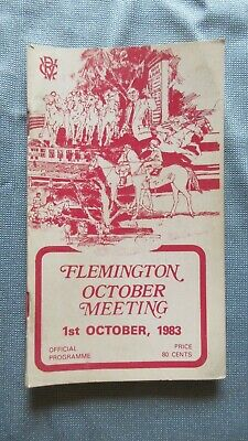 1983 Flemington 1st October Meeting Official Programme Booklet Vic. Racing Club.