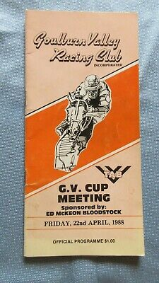 1988 Goulburn Valley Racing Club Official Programme G. V. Cup Meeting 22nd April