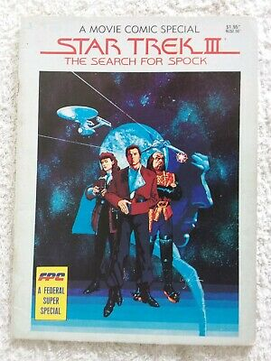 Star Trek III The Search For Spock Vintage Comic Australian 1984 Federal Comics