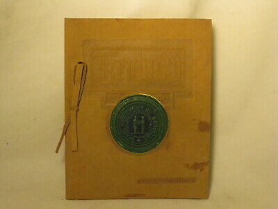 antique University of Kentucky 1910 Commencement booklet leather cover program
