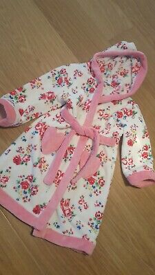 Mini Club Girls Pink Floral Dressing Gown Robe Age 4-5 Years