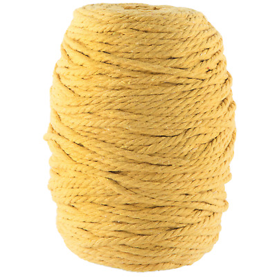 yellow macrame cotton cord 4mm yarn string rope twisted craft australian seller
