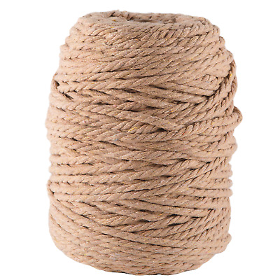 5mm caramel macrame rope coloured 3 ply cotton cord string twisted australia