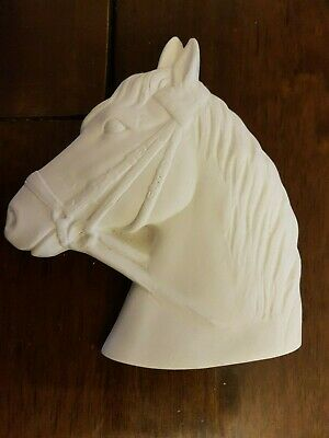 Horse Head Rubber Latex Mould Mold Wall Hanging Decoration Plaque New Animal