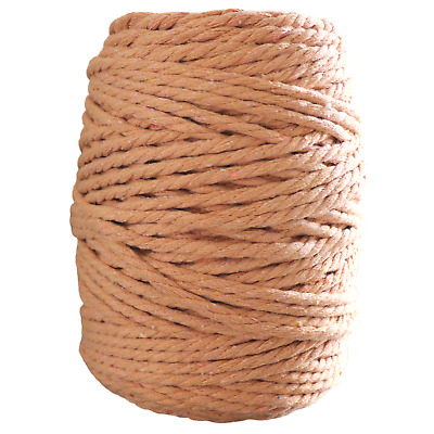 5mm apricot macrame rope 3 ply coloured cotton cord string twisted australia