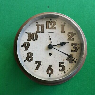 Brass Wall Clock Possibly Smiths With Empire Mechanism