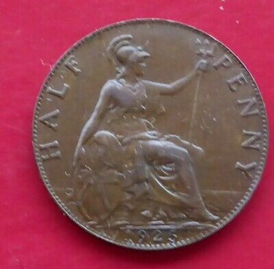 A 1925 King George V Gb One Halfpenny Coin / Superb
