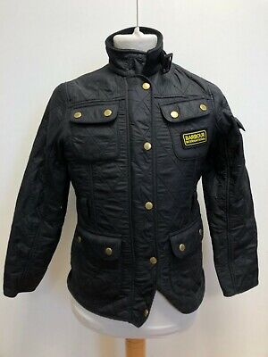 G217 Girls Barbour Polarquilt Black Diamond Fleece Lined Jacket Age 10-11 Years
