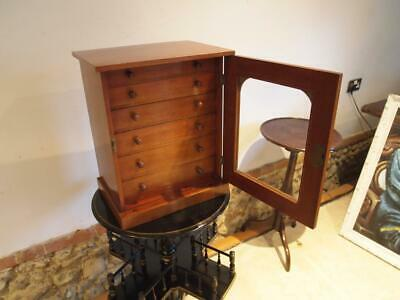 Very Rare James Gardner Collectors chest of drawers Mahogany c1890