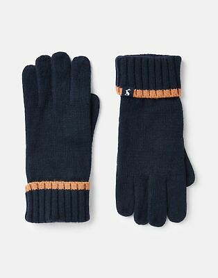 Joules Womens Snowday Knitted Gloves in FRENCH NAVY in One Size
