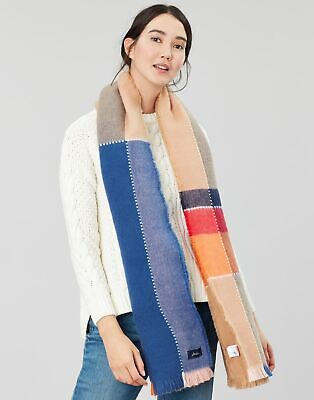 Joules Womens Stamford Check Scarf - TAN CHECK in One Size