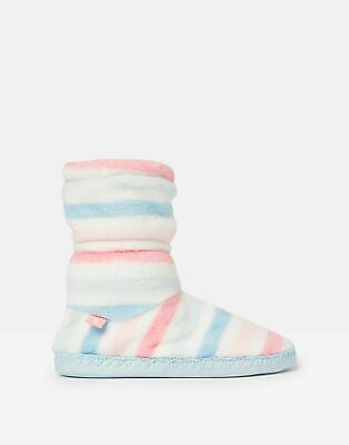 Joules Girls Padabout Slipper Socks - MULTI STRIPE