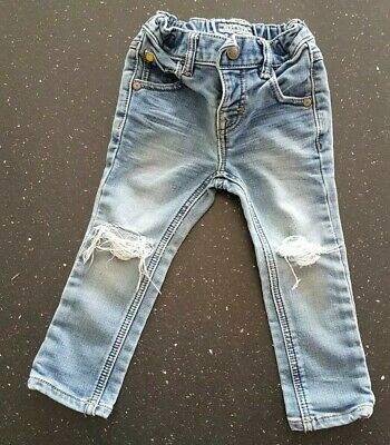 Lovely Next Ripped Blue Jeans - Age 9-12 Months
