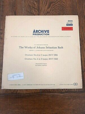BACH OVERTURES - No.1 BWV 1066/No.4 BWV 1069. Archive Production-ARC 73181. NM