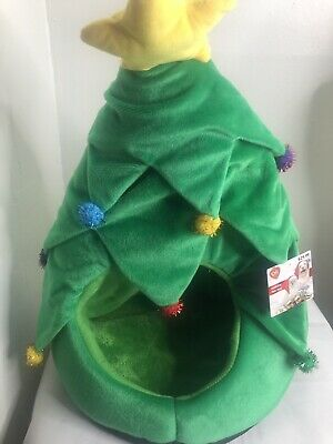 New Green Christmas Tree Dog Or Cat Pet Hut Fleece Soft  Bed Travel  (3)