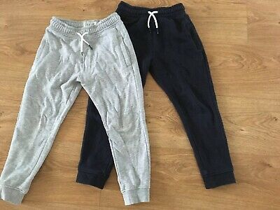 Next Boys Pair Navy & Grey Jogging Bottoms Trousers Size 6
