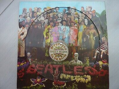 The Beatles Sgt Peppers Lonely Hearts Club Band Picture Disc VG+