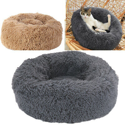 Cuddler Pet Bed Luxury Shag Warm Fluffy Dog Bed Nest Cat Mattress Fur Donut Pad