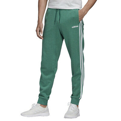 Adidas Pantaloni da Uomo Essentials 3-Stripes Tapered Cuffed Verde Taglia XS Cod