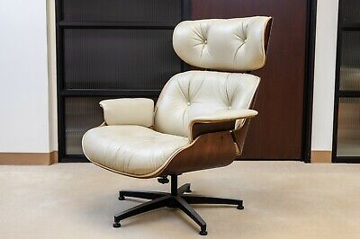 Herman Miller Eames Type Plycraft Lounge leather Chairs in impeccable conditions