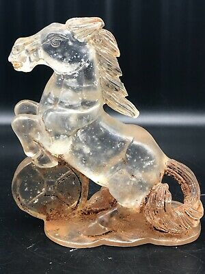 Wonderful Ancient Roman Rock Crystal Stone Unique Horse Statue