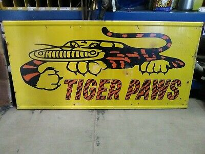 Vintage Metal Tiger Paws Sign