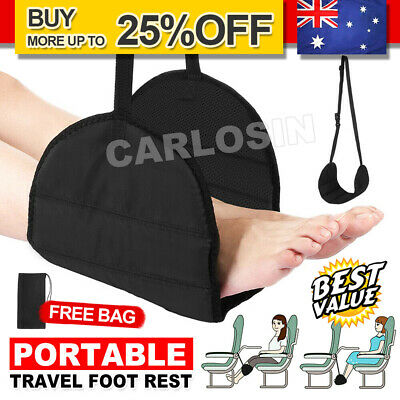 Travel Foot Rest Footrest Leg Pillow Flight Memory Foam Cushion Hammock AU STOCK