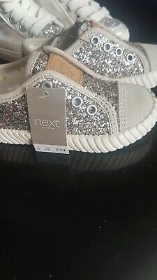 Girls Next Sparkly Trainers infant Size 3