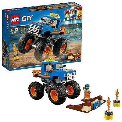 LEGO 60180 City Great Vehicles Monster Truck Toy with Driver and Stunt Show A