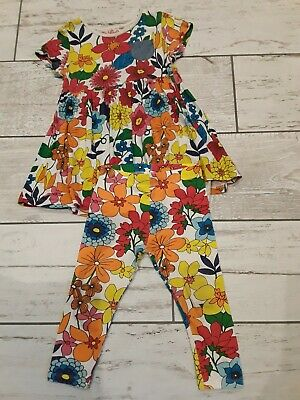 Next girls flowery outfit, tunic dress/top & leggings 2-3 years