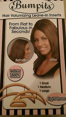 Bumpit Hair Volumizing Leave-In Inserts In Light Brown Set Of 3
