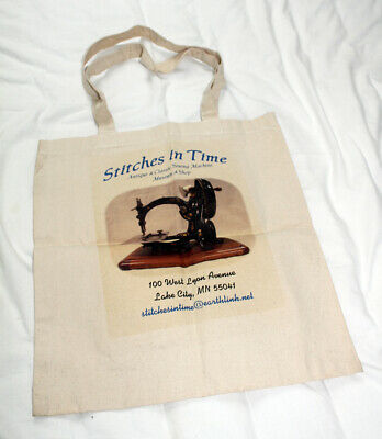 Willcox & Gibbs antique sewing machine carrier tote bag