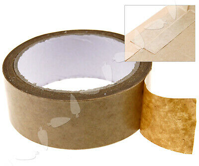 50m x 38mm Arts Crafts Picture Brown Self Adhesive Backing Tape DIY Decor