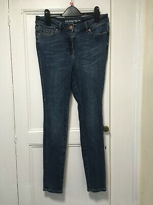 Next Dark Blue Vintage Denim Super Skinny Jeans Jeggings Cotton High Waist M 10
