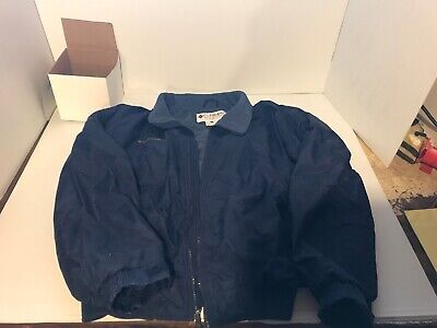 Columbia Sportswear Mens Jacket Size XL Full Zip Blue Water Resistant Lined