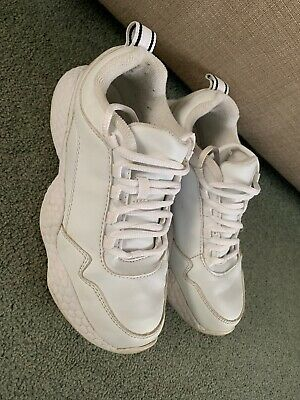 Next White Lace Up Trainers Shoes Size 2 Uk Girls Ladies Sports Gym
