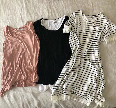 Amor And Grace Maternity Breastfeeding Bundle- Top, T Shirt And Dress