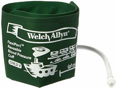 Welch Allyn REUSE-09-1SC FlexiPort Reuseable One Piece Cuffs Child One-Tube C...