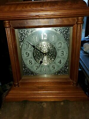 "Nice Replica Westminster Table Mantle Wood Wooden Oak Clock 10""x12""x4"