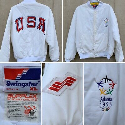 Vintage Atlanta 1996 USA Jacket Olympics Swingster Made In USA XL Varsity Bomber