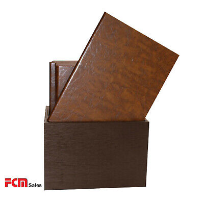 Brown A4 Cover Made Of Faux Leather Box Set 10