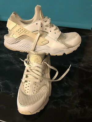 Mens Nike Huarache Triple White Pure Platinum Size UK 7